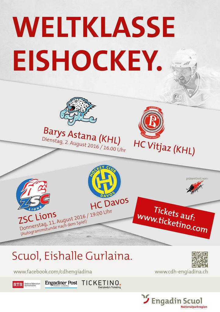 Weltklasse Eishockey in Scuol